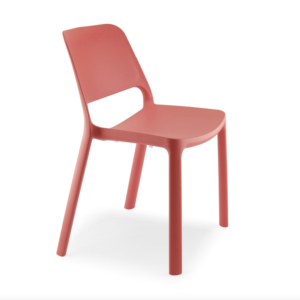 Chaise MAIKE rouge corail