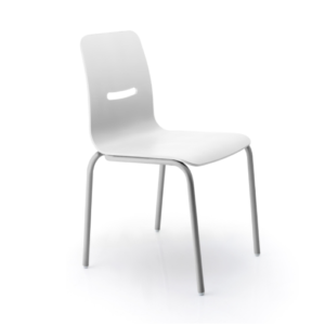 Chaise Irriz blanche face